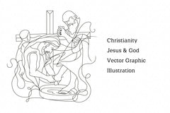 Christianity Jesus & God Vector Graphic Illustration