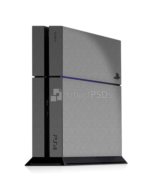 Sony PS4 Console Skin Design Template Combo 3 Views