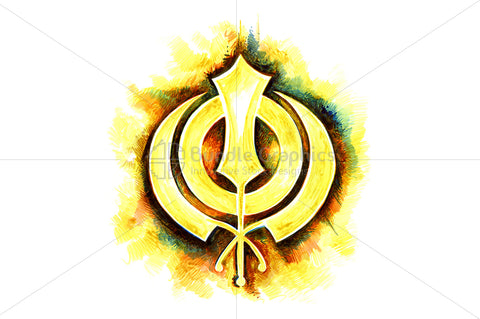 Khanda Sahib - Ink Graphic