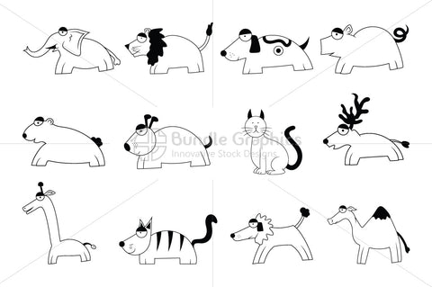 Royalty Free Scalable Vector animal set