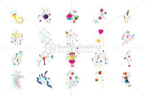 Royalty Free Celebration Decorative Vector Design Elements