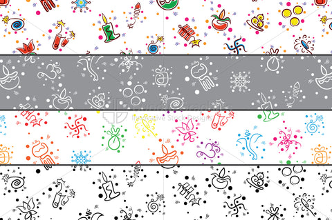 Diwali Festival Celebration Graphic Pattern Set