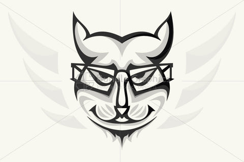Geek Cat - Creative Illustration of Animal