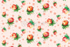 Roses - Freehand Colorful Pastel Shades Background