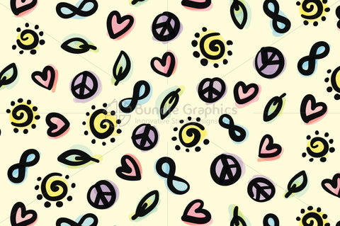 Infinity Peace Love Nature -  Bold Seamless Background