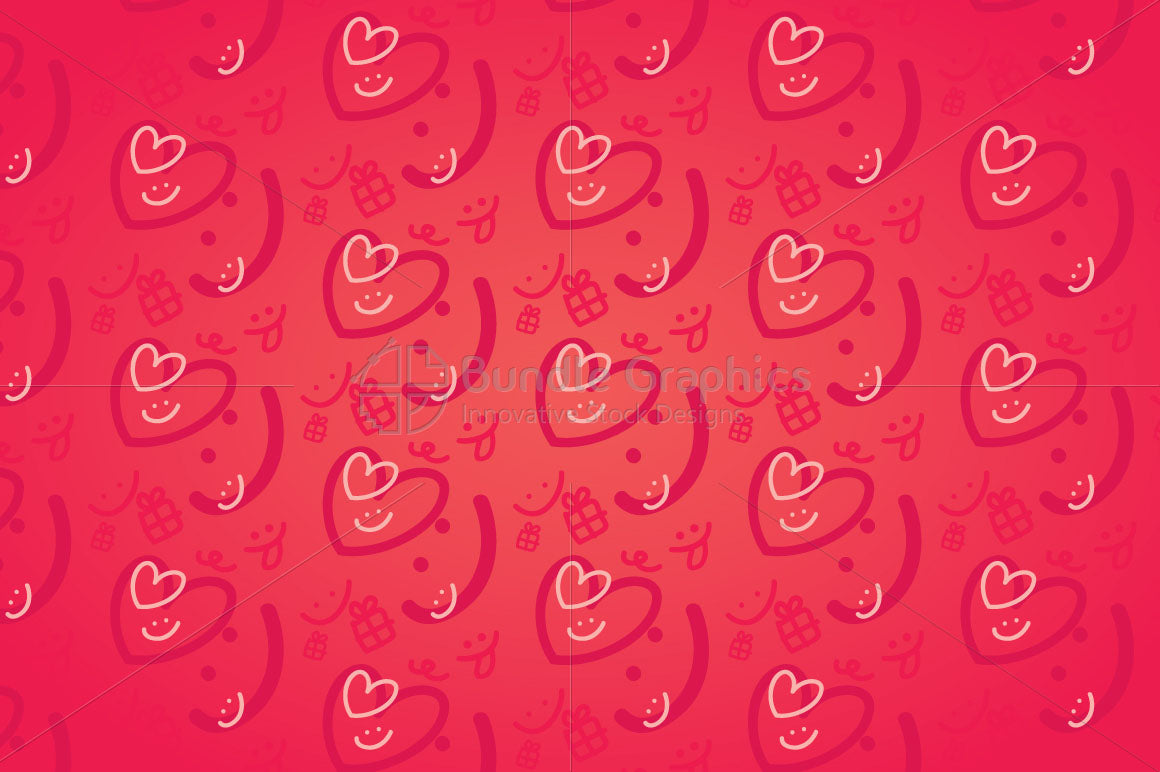 Smiling Hearts - Cute Graphics Background