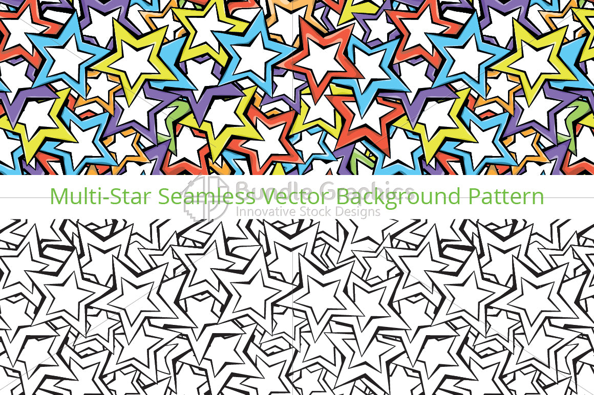 Stars - Colorful Vector Pattern