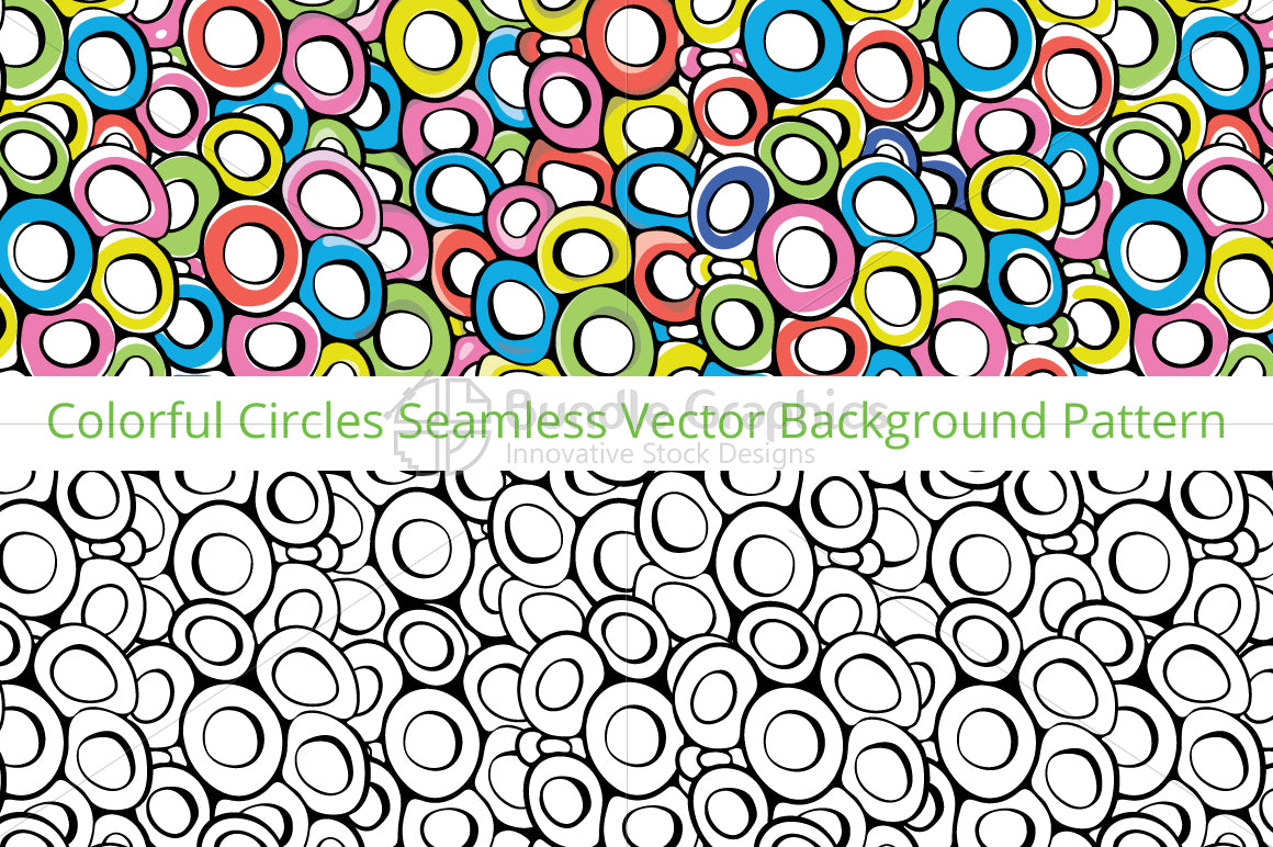 Circles - Colorful Vector Pattern