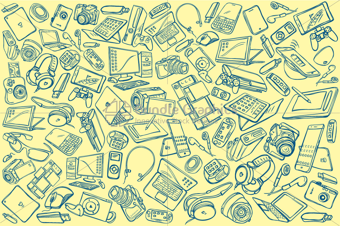Electronic Gadgets Pattern Design