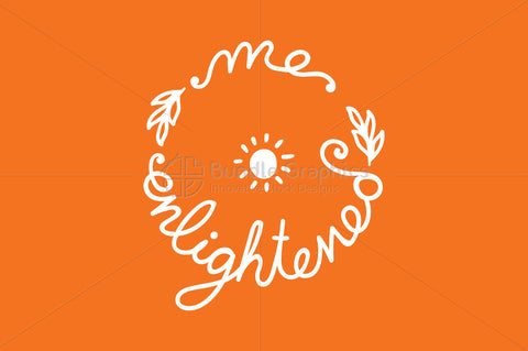 Me Enlightened Graphic - Handwritten Calligraphic Illustration