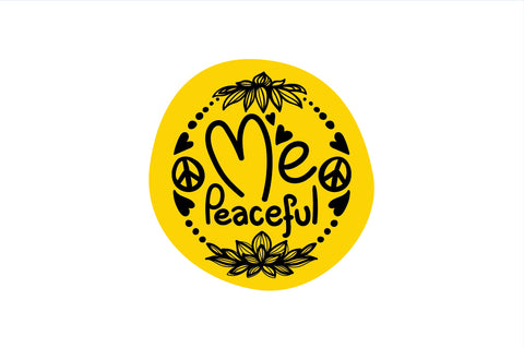 Me Peaceful - Freehand Calligraphic & Illustrative design