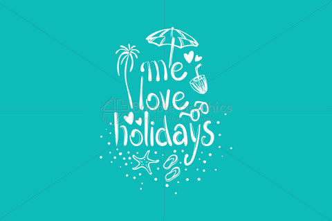 Me Love Holidays - Freehand Graphical Illustration