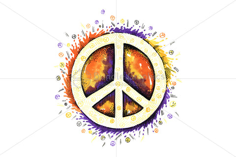 Universal Symbol Of Peace - Creative Illustration