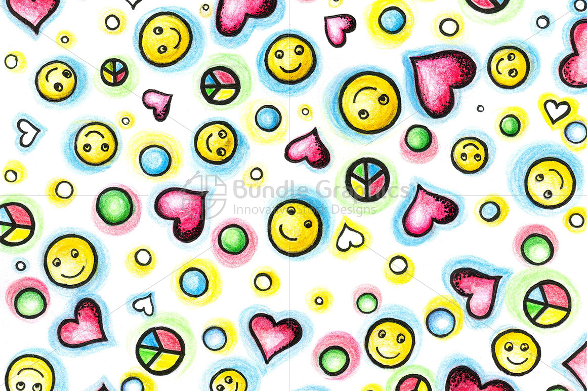 Peace Love Smiles Graphical Image