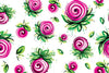 Pink Roses - Floral Seamless Background