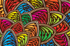 Abstract Freehand Colorful Background