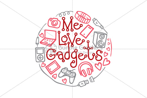 Me Love Gadgets - Vector Graphic Illustration