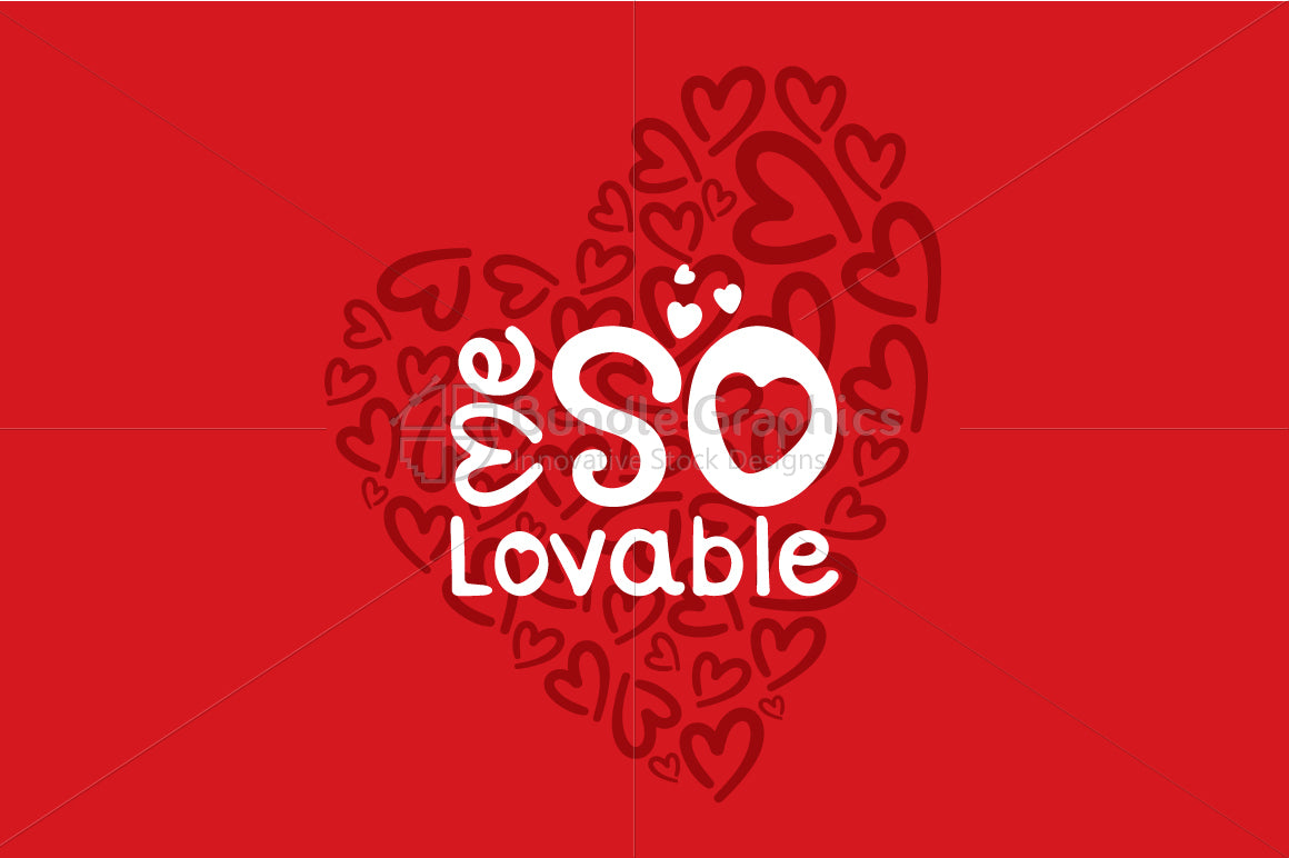 Me So Lovable - Vector Graphic Textual Element