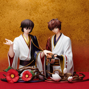 Statue and ring style: Lelouch Lamperouge & Suzaku Kururugi