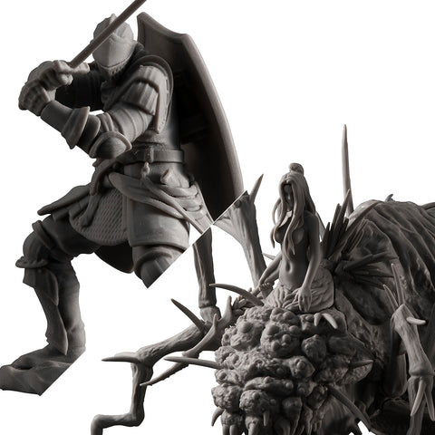Game Piece Collection: DARK SOULS - Senior Knight & Chaos Witch Quelaag