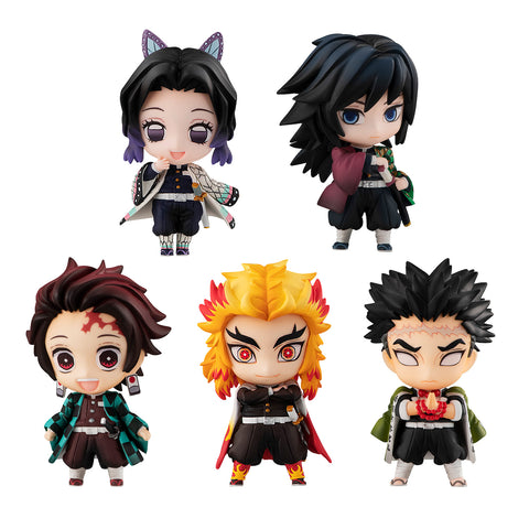 Demon Slayer: Kimetsu no Yaiba - Tanjiro and Hashira Mascot Set A