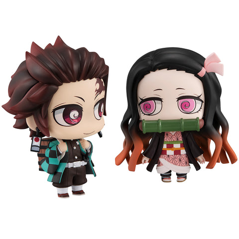 ChimiMega Buddy Series!: Demon Slayer: Kimetsu no Yaiba - Tanjiro Kamado & Nezuko Kamado Close Siblings Set (Resale)