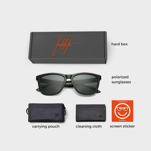Polarized Sunglasses for Men/Women Gradient Wayfarer Frame - Black - Teddith Blue Light Blocking Glasses for Computer Gaming Anti Glare Reduce Eye Strain Screen Glasses
