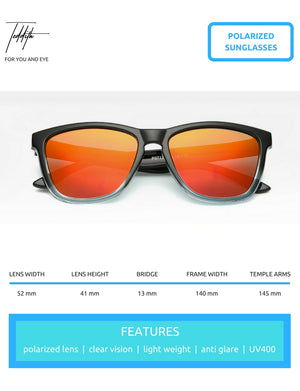 Polarized Sunglasses for Men / Women Gradient Wayfarer Frame - Red - Blue Light Blocking Glasses Computer Gaming Reading Anti Glare Reduce Eye Strain Screen Glasses by Teddith