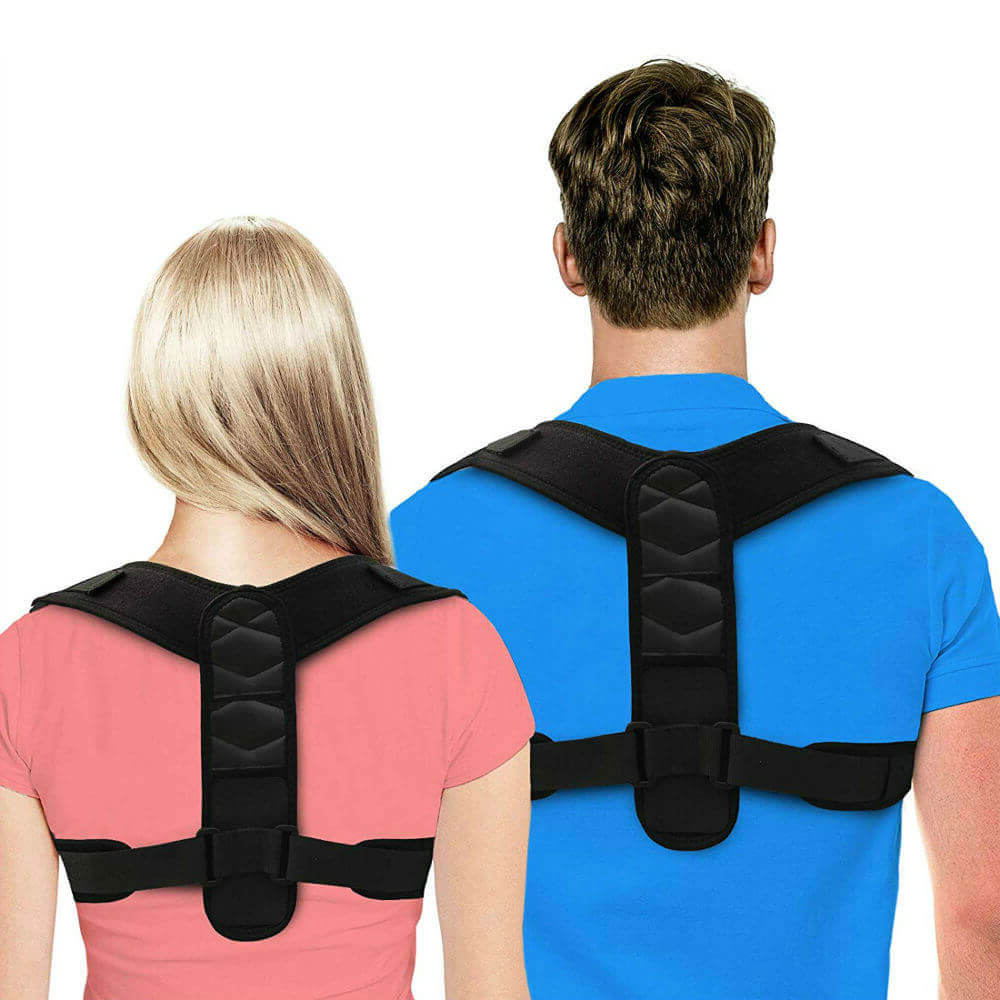 Posture Corrector With Adjustable Upper Back Brace For Clavicle Support - Blue Light Blocking Glasses Computer Gaming Reading Anti Glare Reduce Eye Strain Screen Glasses by Teddith