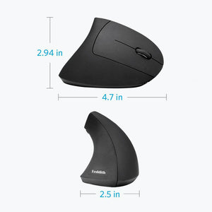 Wireless Right-Handed Vertical Ergonomic Mouse - Blue Light Blocking Glasses Computer Gaming Reading Anti Glare Reduce Eye Strain Screen Glasses by Teddith