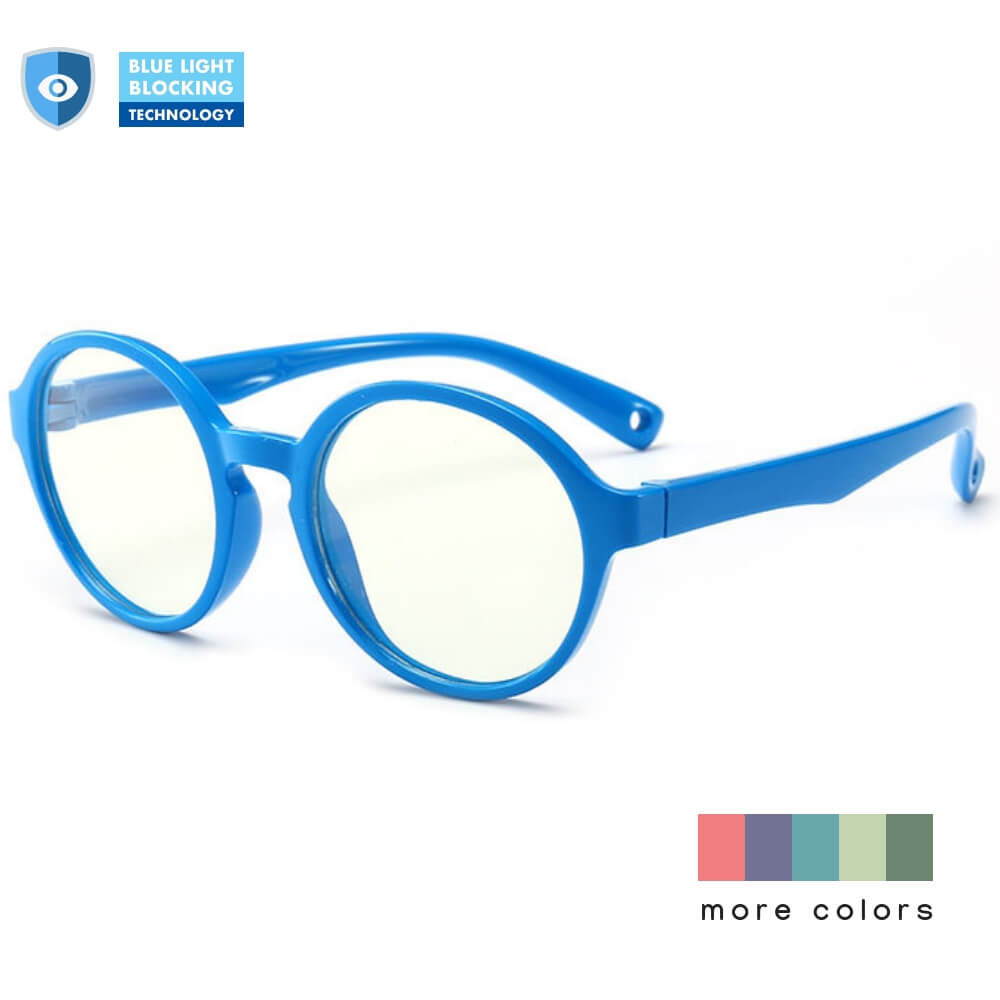 Blue Light Blocking Computer Screen Reading Glasses for Kids Ages [3-9] - Veronica - Blue Light Blocking Glasses Computer Gaming Reading Anti Glare Reduce Eye Strain Screen Glasses by Teddith