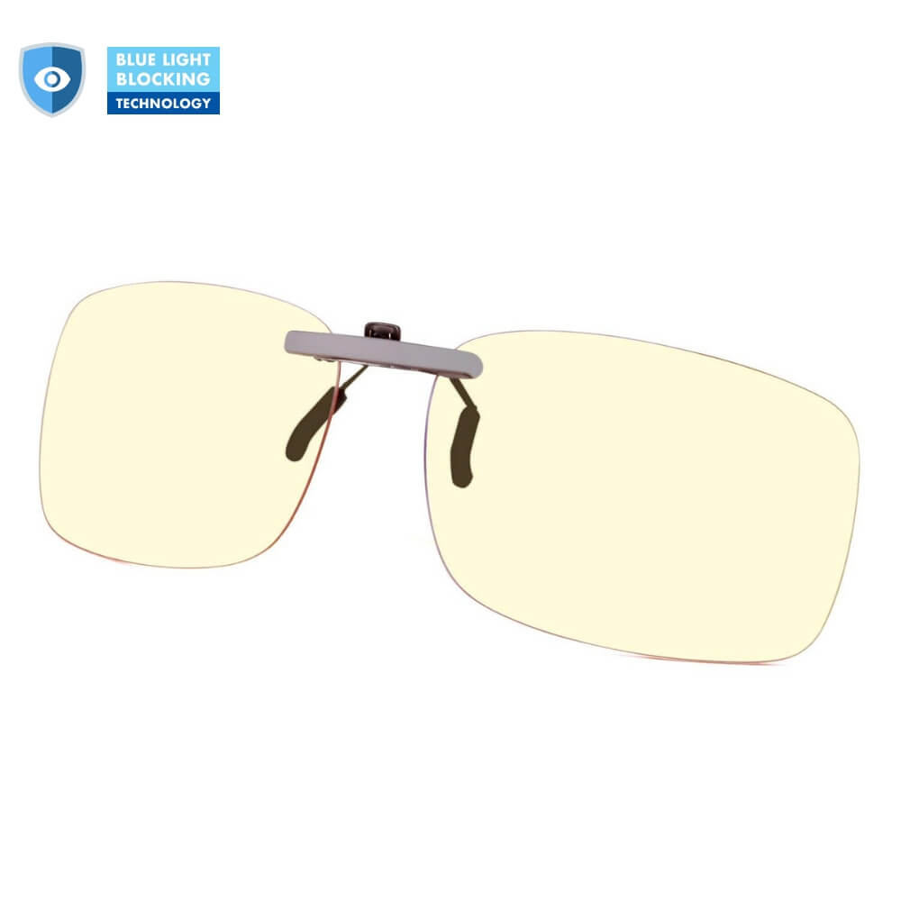 Blue Light Blocking Clip-On Lenses - Teddith Blue Light Blocking Glasses for Computer Gaming Anti Glare Reduce Eye Strain Screen Glasses