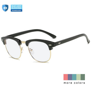 Blue Light Blocking Glasses for Computer Clubmaster Frame - Tiger - Teddith - US