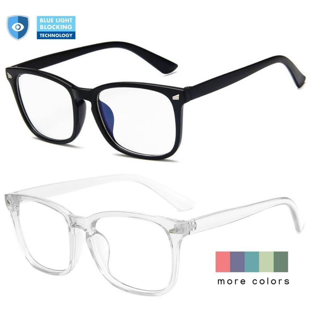 Blue Light Blocking Glasses - Amy (2 Pack) - Blue Light Blocking Glasses Computer Gaming Reading Anti Glare Reduce Eye Strain Screen Glasses by Teddith