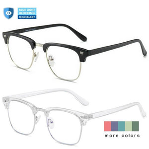 Blue Light Blocking Glasses - Clubmaster (2 Pack) - Teddith - US