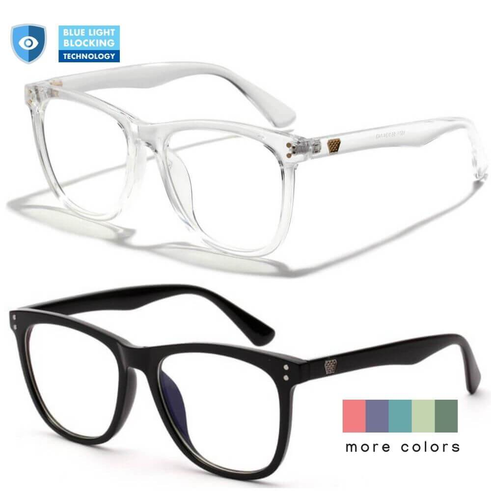 Blue Light Blocking Glasses - Charle (2 Pack) - Blue Light Blocking Glasses Computer Gaming Reading Anti Glare Reduce Eye Strain Screen Glasses by Teddith