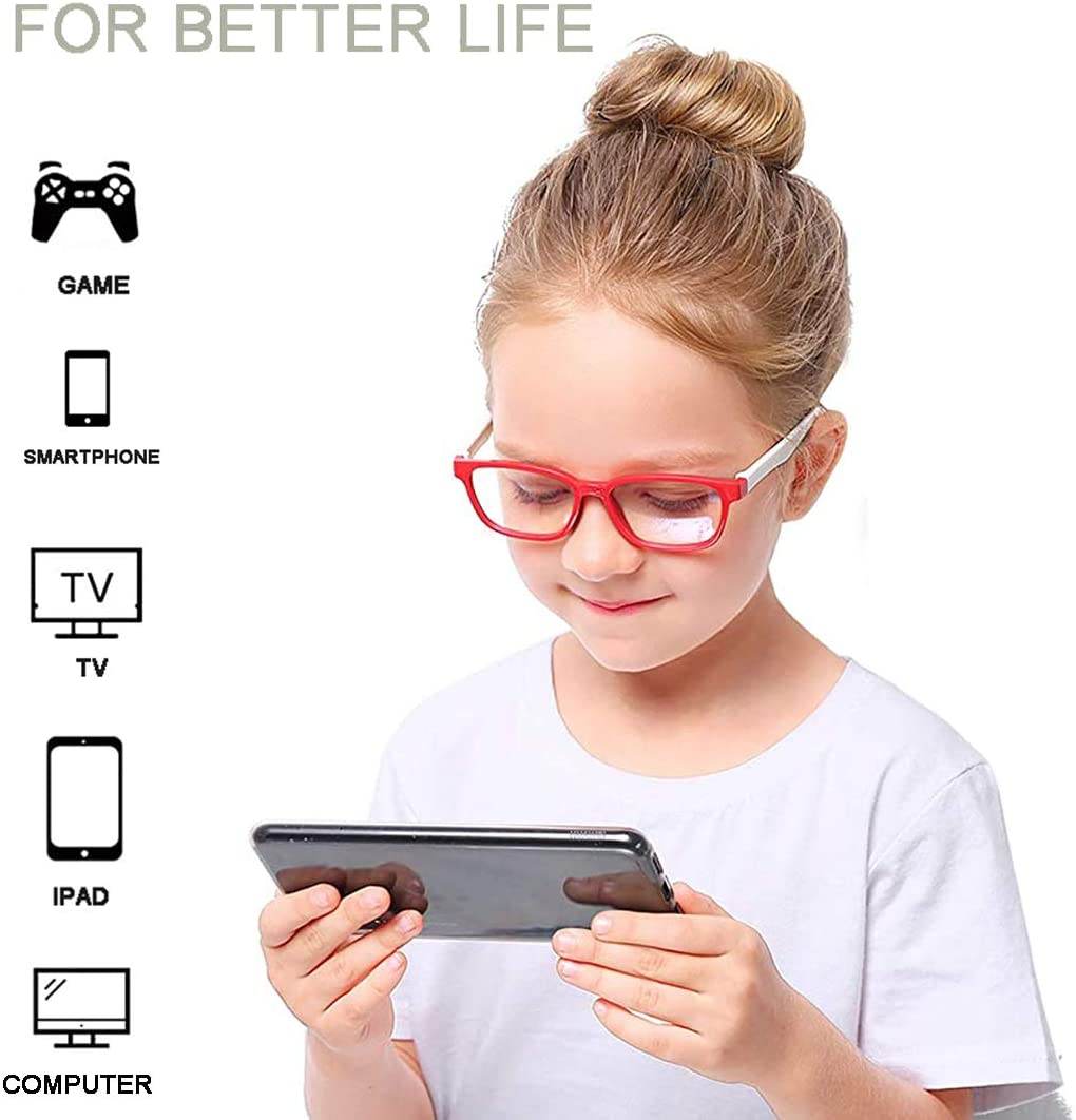 Blue Light Blocking Computer Screen Reading Glasses for Kids Ages [3-9] - Malik - Teddith - US