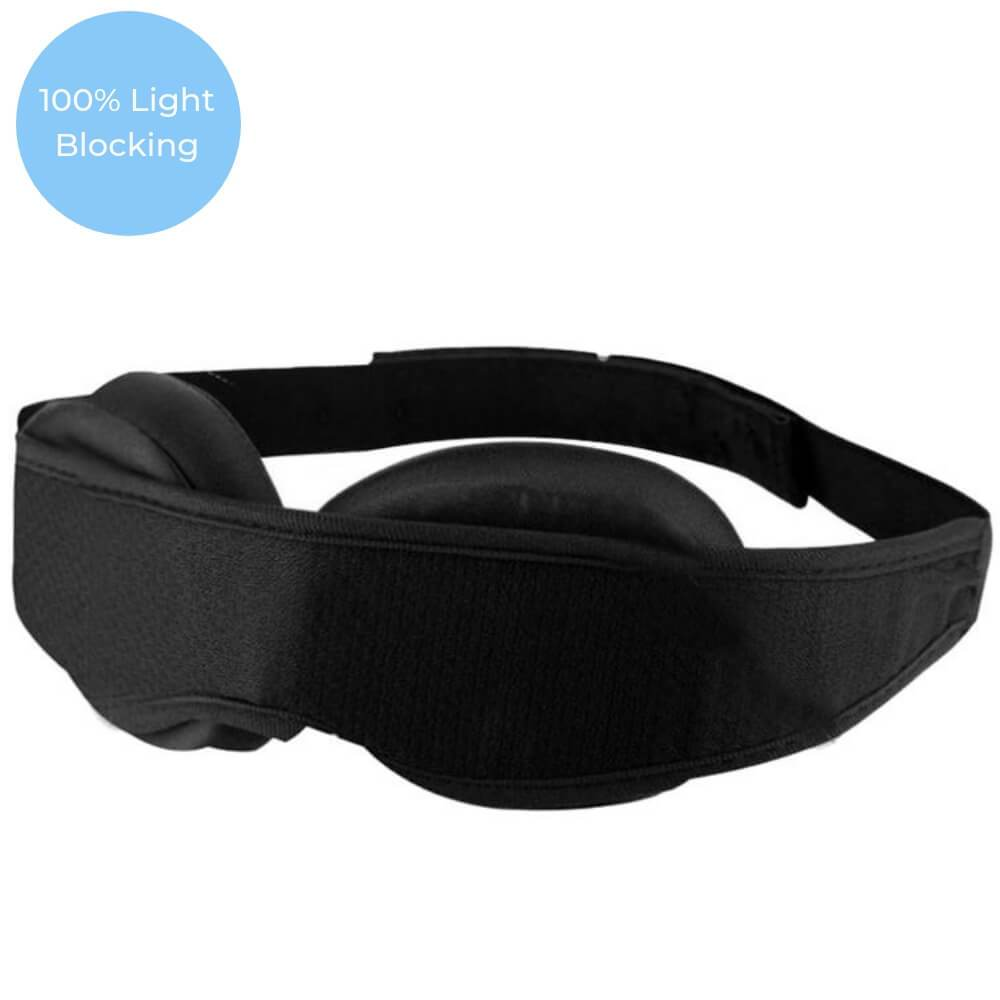 Padded Sleeping Eye Mask Adjustable Strap Modular Design 100% Blackout Light - Blue Light Blocking Glasses Computer Gaming Reading Anti Glare Reduce Eye Strain Screen Glasses by Teddith