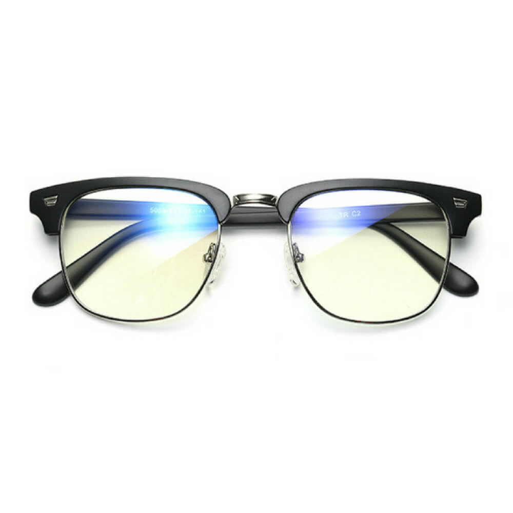 Blue Light Glasses for Computer Anti Glare Half Frame Clubmaster - Blue Light Blocking Glasses Computer Gaming Reading Anti Glare Reduce Eye Strain Screen Glasses by Teddith