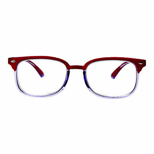 Blue Light Blocking Progressive Multifocal Reading Glasses - R/Clear - Blue Light Blocking Glasses Computer Gaming Reading Anti Glare Reduce Eye Strain Screen Glasses by Teddith