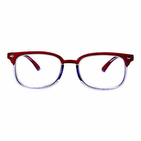 Anti Blue Light Progressive Multifocal Reading Glasses - R/Clear - Teddith Blue Light Glasses for Computer Gaming Anti Glare Reduce Eye Strain Screen Glasses