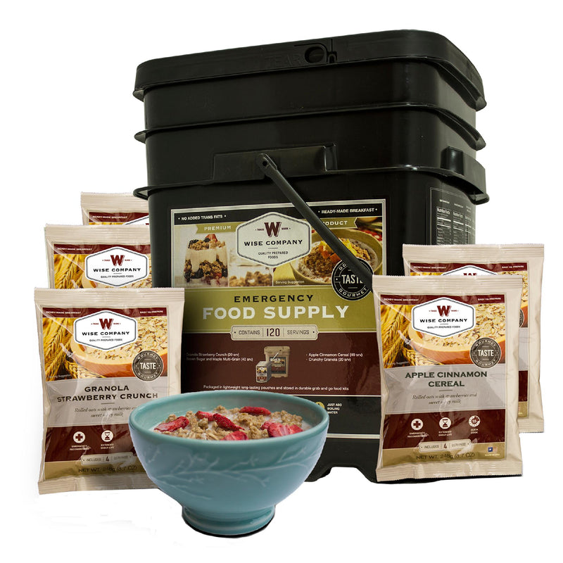 Wise Grab and Go Bucket - Breakfast Only, 120 Servings