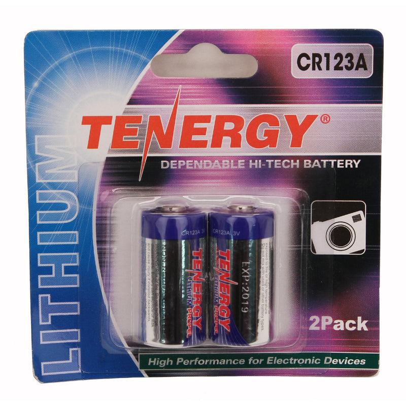 Tenergy - CR123 2-Pack (Retail), Chrome