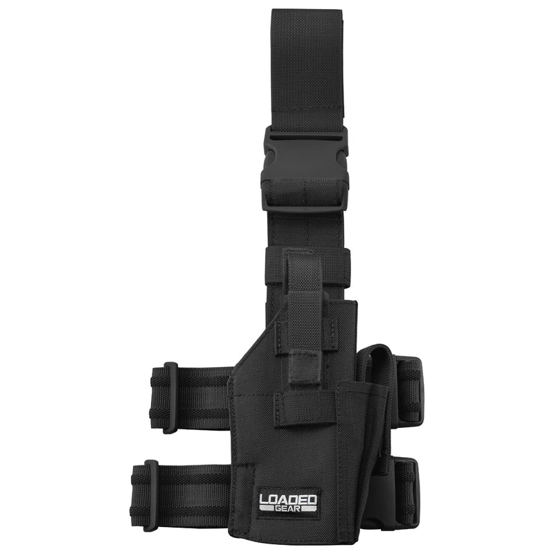 Barska Loaded Gear Drop Leg Handgun Holder CX-500, Black