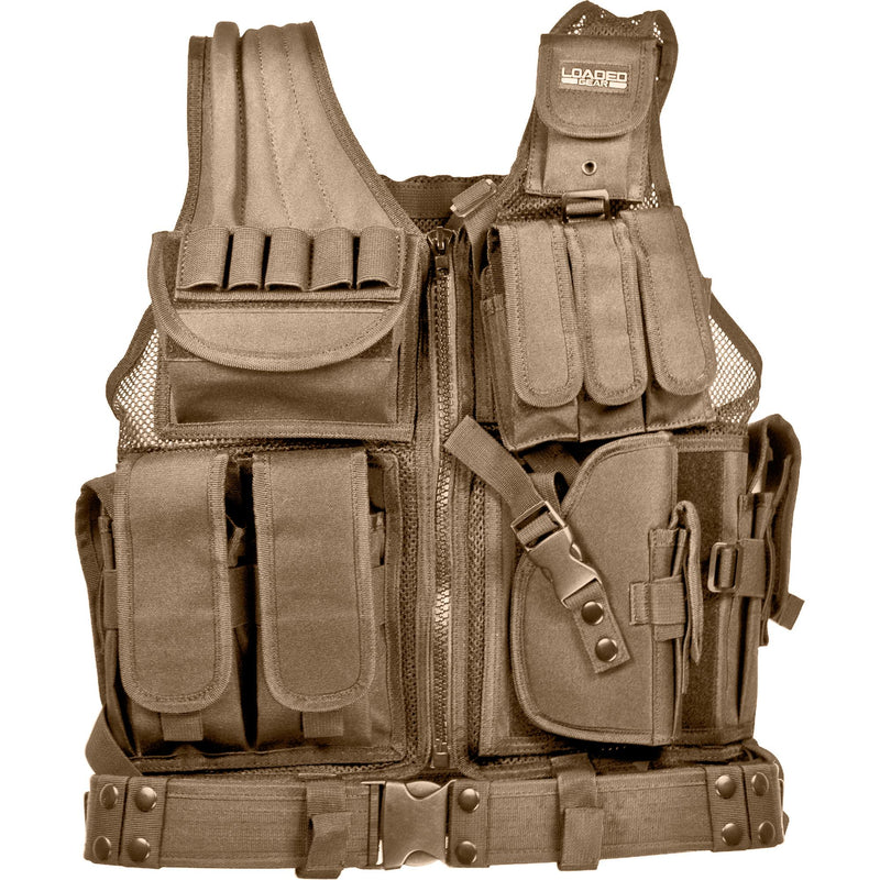 Barska Loaded Gear Tactical Vest - VX-200, Tan