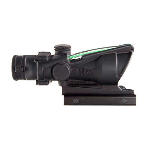 ACOG 4x32mm Dual Illuminated Scope - Green Chevron M193 Reticle with TA51 Mount, Black
