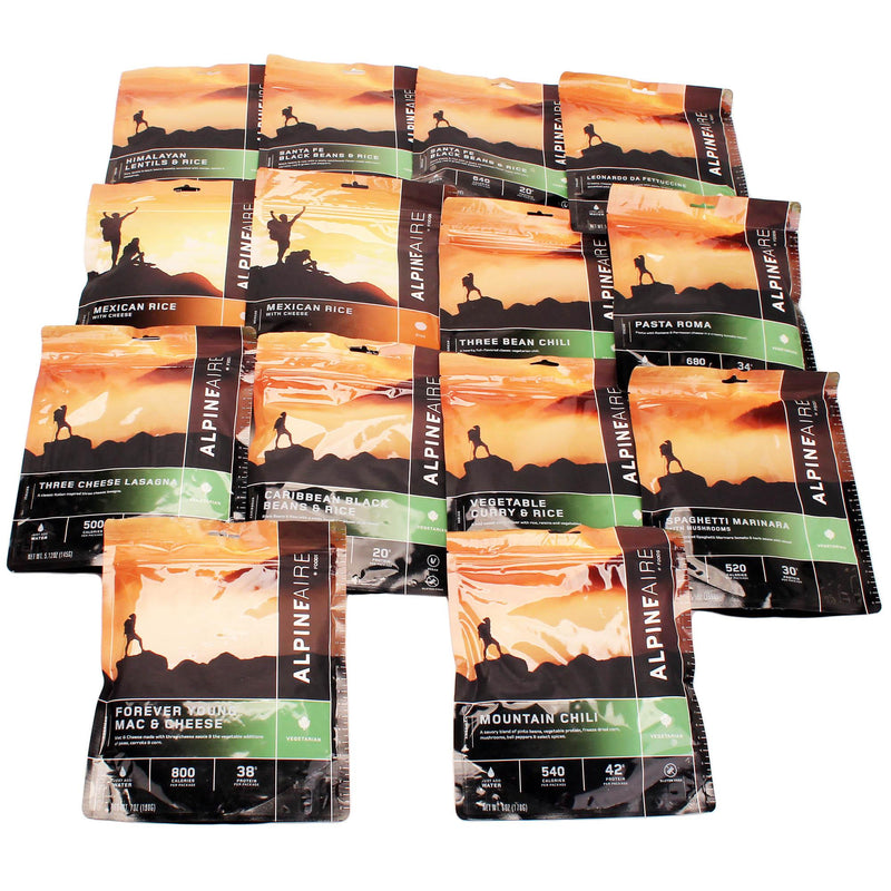 AlpineAire 7 Day Meal Kit - 14 Pouches, Vegetarian