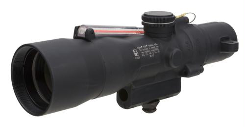ACOG 3x24mm Compact Dual Illuminated Scope - Red Crosshair .223-55gr Ballistic Reticle with M16 Carry Handle Base, Black