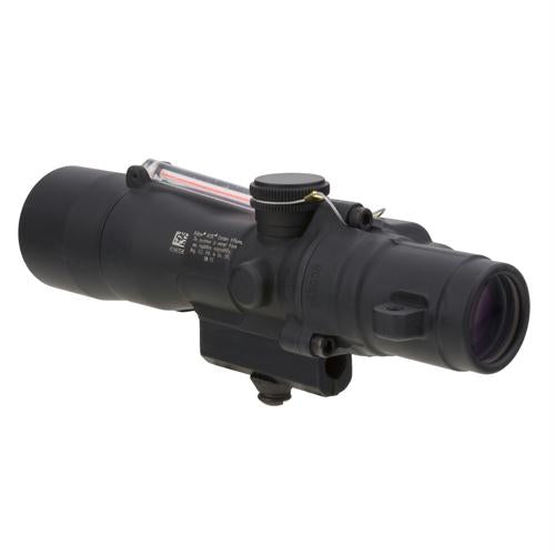 ACOG 3x24mm Compact Dual Illuminated Scope - Red Horseshoe-Dot .223-55gr Ballistic Reticle with M16 Carry Handle Base, Black