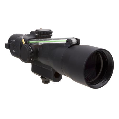 ACOG 3x24mm Compact Dual Illuminated Scope - Green Horseshoe-Dot .223-55gr Ballistic Reticle with M16 Carry Handle Base, Blk